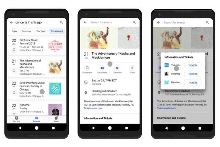 گوگل قسمت رویدادها در صفحهی جستجو را تغییر میدهد