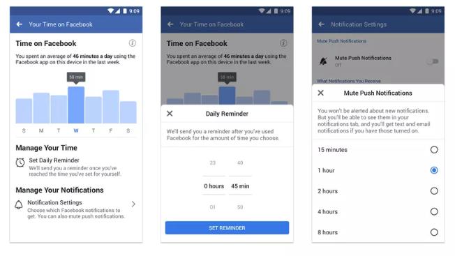 فیسبوک و اینستاگرام مدیریت زمان در اپلیکیشن خود را به شما میسپارند